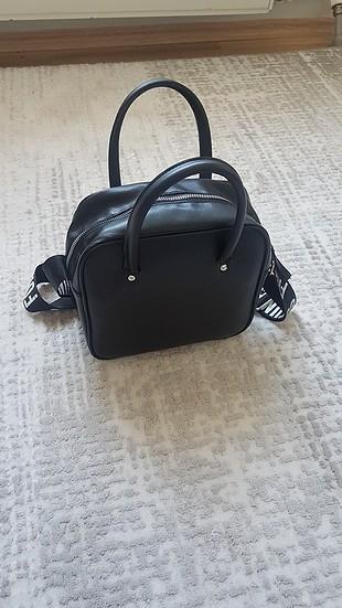 s Beden koton marka yazılı çanta