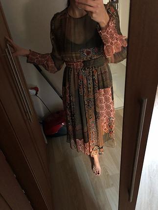 s Beden Zara şifon elbise