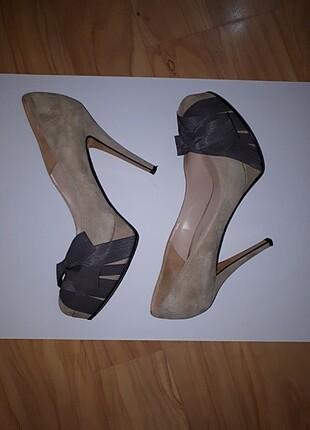 Orijinal Gianni Marra Süet Topuklu ayakkabı 41 Numara