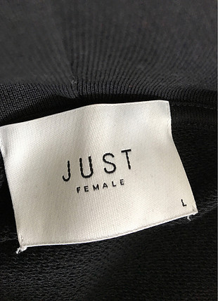 Siyah uzun sweatshirt