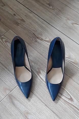 lacivert stiletto topuklu ayakkabı