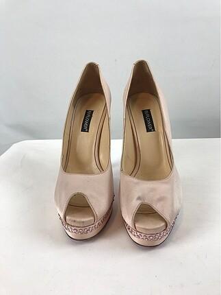 Pembe Platform Ayakkabı