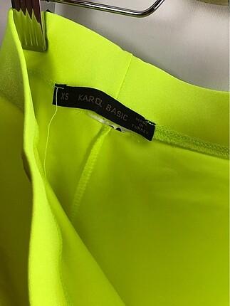 xs Beden sarı Renk Neon Tayt
