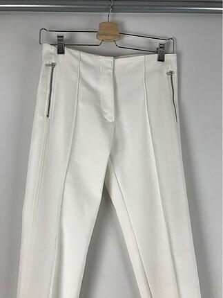 Zara Beyaz Kumaş Pantolon