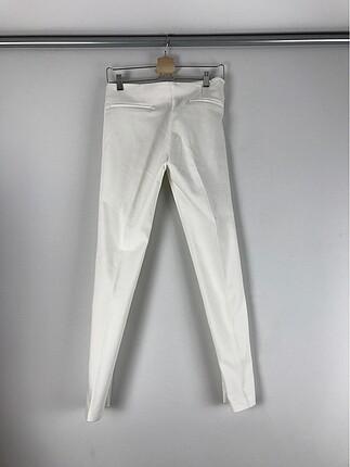 s Beden Beyaz Kumaş Pantolon