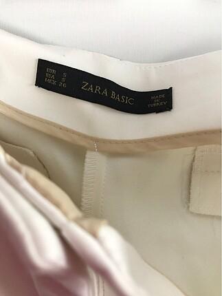 s Beden beyaz Renk Beyaz Kumaş Pantolon