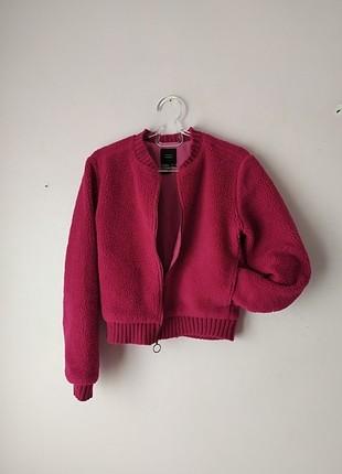 Zara fuşya polar ceket