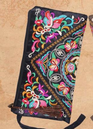 etnik desenli el çantası
