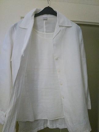 Ekol, keten iç dış takım bulüz ceket