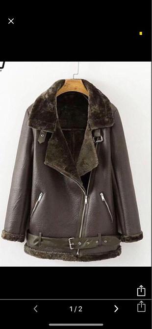 Zara haki deri ceket