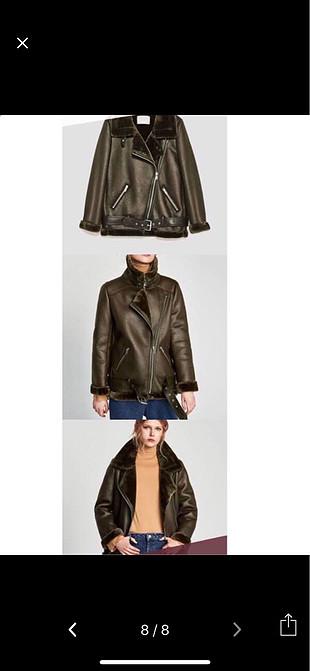 Zara Zara haki deri ceket