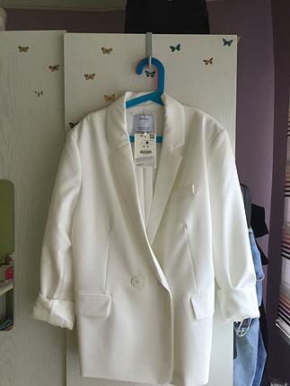 Bershka #bershka #ceket #beyaz #blazer 0 etiketli ürün
