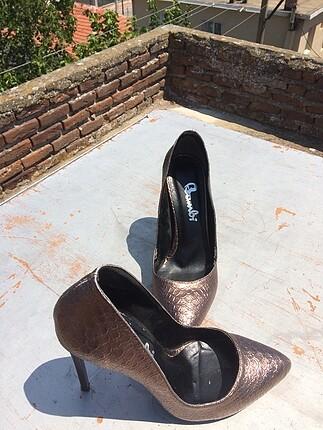 38 Beden camel Renk Bambi topuklu ayakkabı