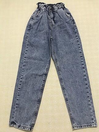 Jeans yüksek bel lastikli