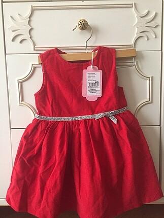 Bebek elbisesi / kadife elbise / kırmızı elbise
