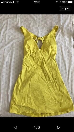 Bershka sarı elbise