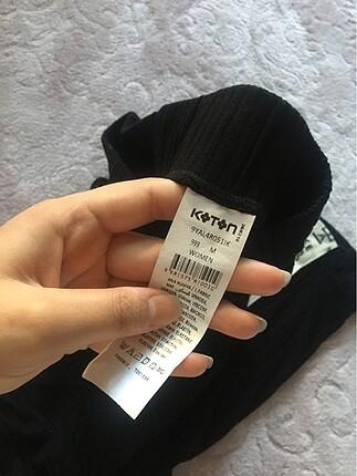 m Beden siyah Renk Yüksek bel bol pantolon