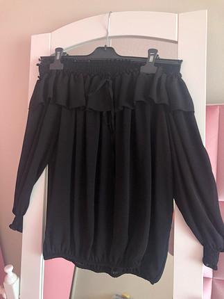 Siyah Tül Bluz