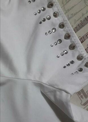 l Beden Beymen clup kolları taşlı gömlek