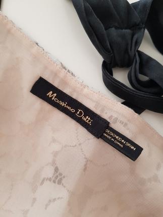 iki renk dantel sırt detaylı bluz