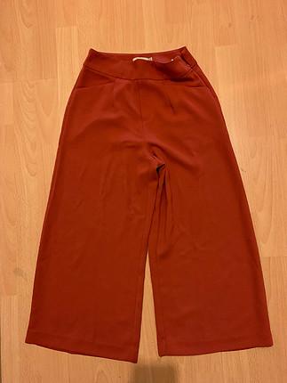 Bershka bol paça kısa kumaş pantolon