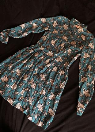 Vintage tarz mini elbise