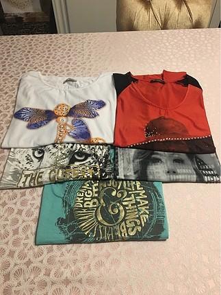 Çeşitli tişört ve gömlekler