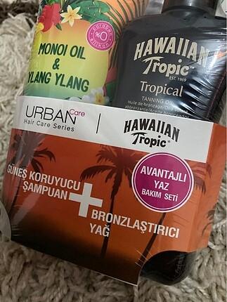 Urban Care Urban Şampuan ve hawaiian bronzlaştırıcı yağ