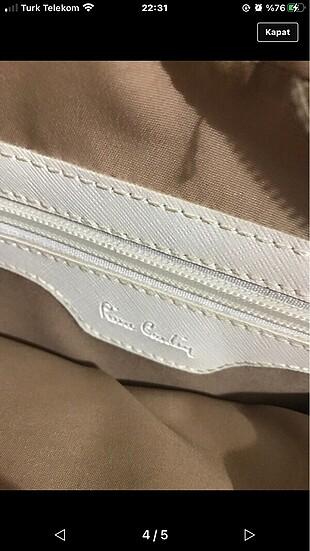 Beden Beyaz pier cardin çanta