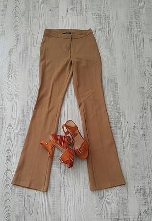 İspanyol bol paça kumaş pantolon
