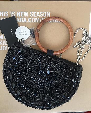 m Beden siyah Renk Zara yeni etiketli el yapımı çanta