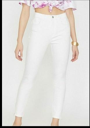Koton beyaz kot pantolon ve parlak tayt