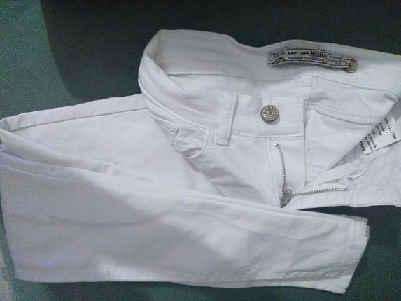 Koton Koton beyaz kot pantolon ve parlak tayt