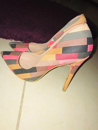 Pelinin Ayakkabıları Renkli stiletto