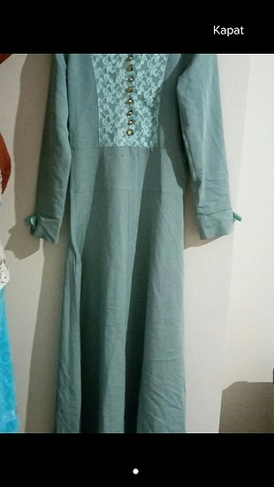 turkuaz elbise