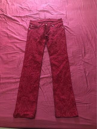 Stefano esnek kırmızı pantalon