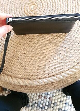 Deri görünümlü cüzdan çanta