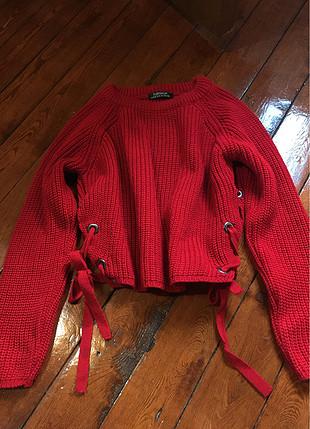 Kırmızı model kazak