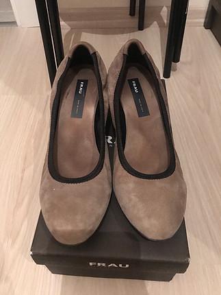 Frau süet dolgu topuk ayakkabu