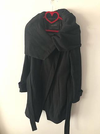 Zara Kaşe Siyah Kaban