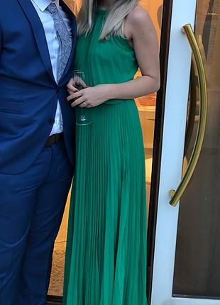 Gece Elbisesi Ördek başı yeşili