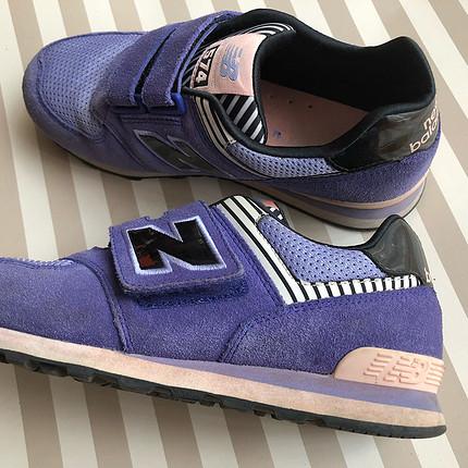 new balance mor çocuk ayakkabı