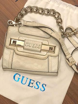 Guess Mini Beyaz Çanta