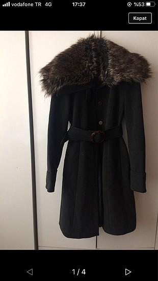 Kürklü kaşe palto