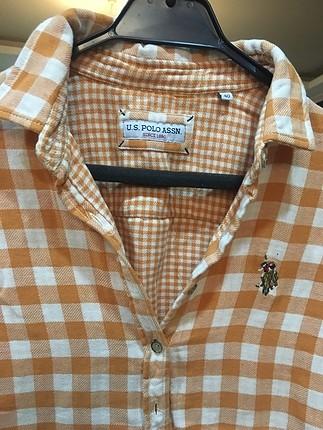 U.S Polo Assn. Kareli oversize gömlek