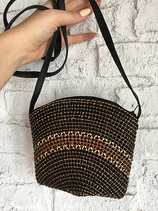 Küçük hasır çanta