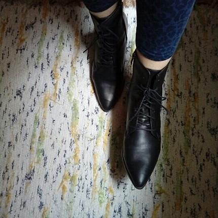 bağcıklı fermuarlı çizme bot
