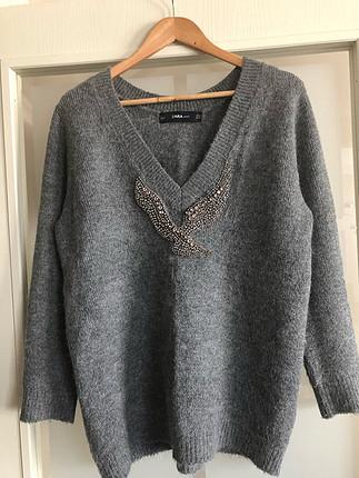Zara Zara taşlı kazak