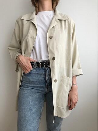 Vintage yazlık bej ceket