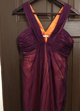 BNG marka mor-oranj karışımı elbise